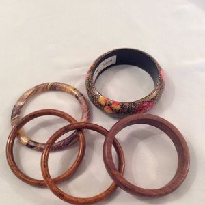 Jewelry - Wood and Plastic Bacelets